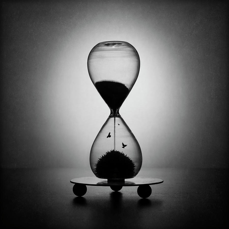 Hourglass Photograph - The Inexorable Passage Of Time by Victoria Ivanova