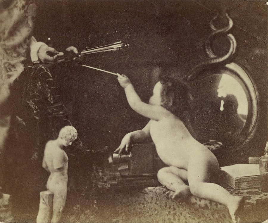 Infant Painting - The Infant Photography Giving The Painter An Additional by Litz Collection