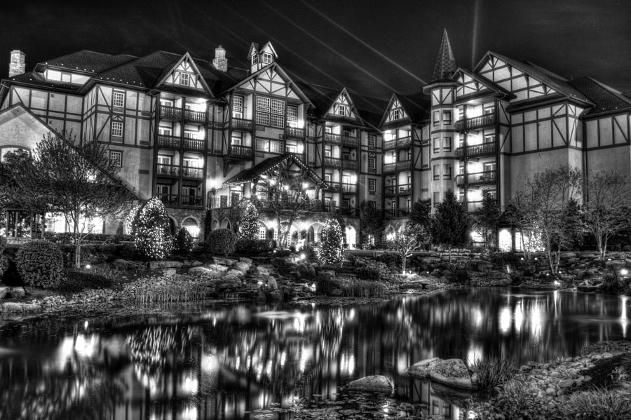 The Inn At Christmas Place Night Photograph by Greg Mimbs