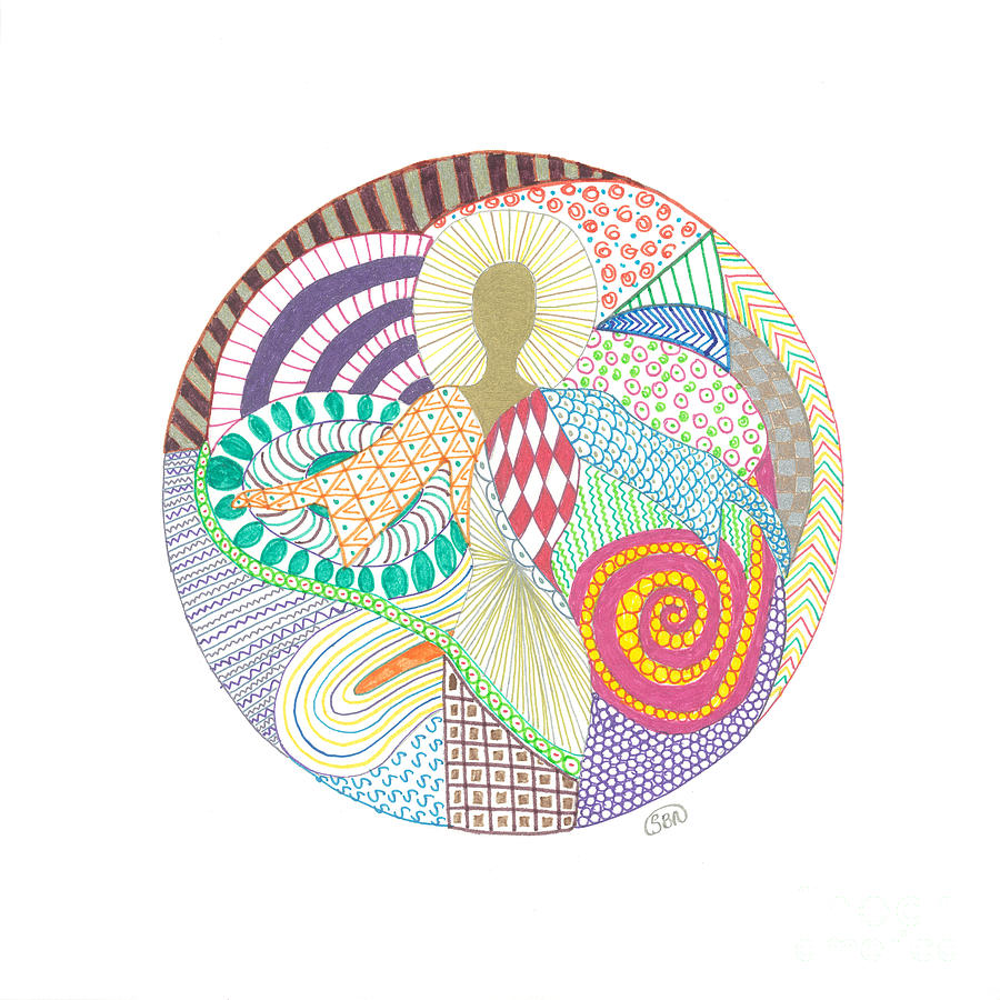 Mandala Drawing - The Inner Goddess by Signe  Beatrice