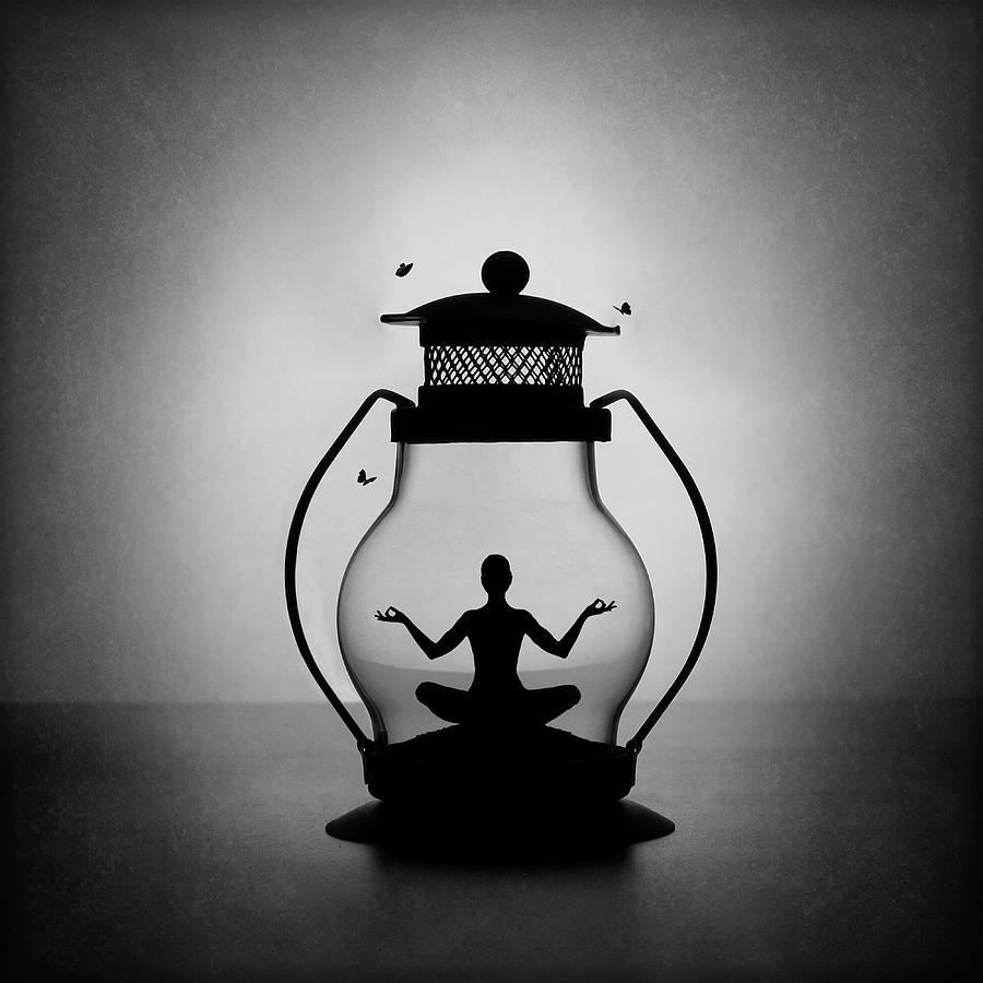 Yoga Photograph - The Inner Light. Meditation. by Victoria Ivanova
