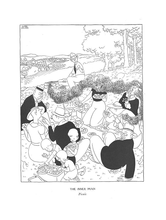 The Inner Man  Picnic Drawing by Gluyas Williams