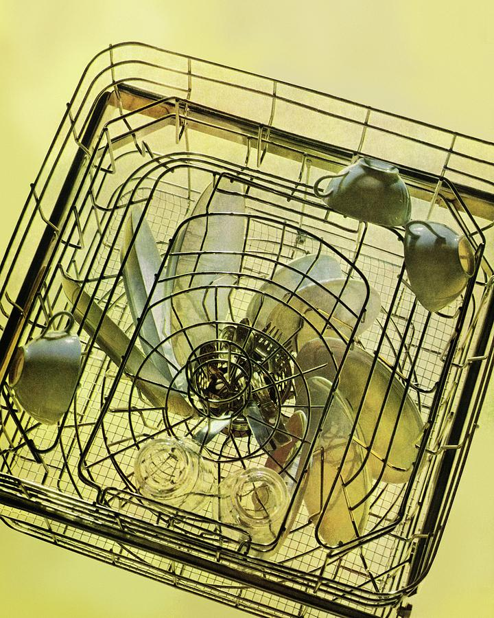 The Inside Of A Hotpoint Dishwasher Photograph by Herbert Matter