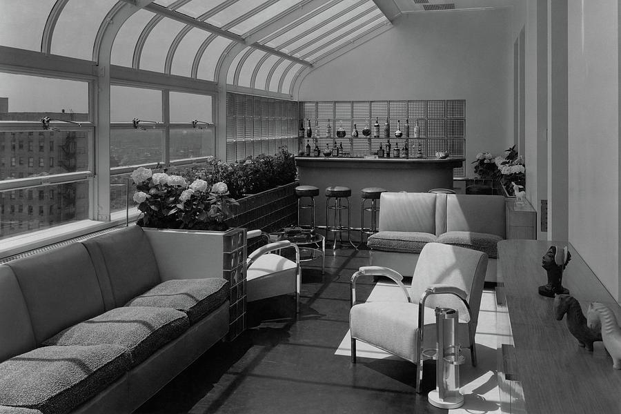 The Interior Of A Rooftop Terrace Photograph by Hedrich Blessing