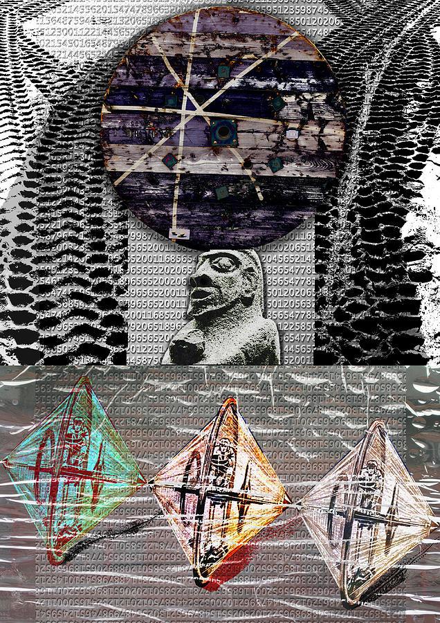 Wheel Digital Art - The Invention Of The Wheel by Maria Jesus Hernandez