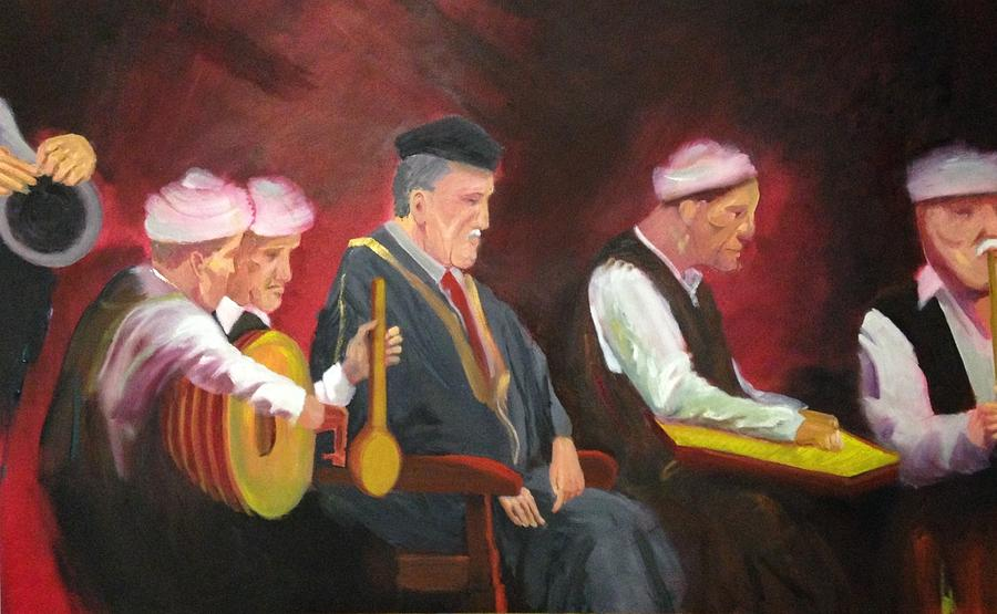 Middle Eastern Music Painting - The Iraqi maqam by Rami Besancon