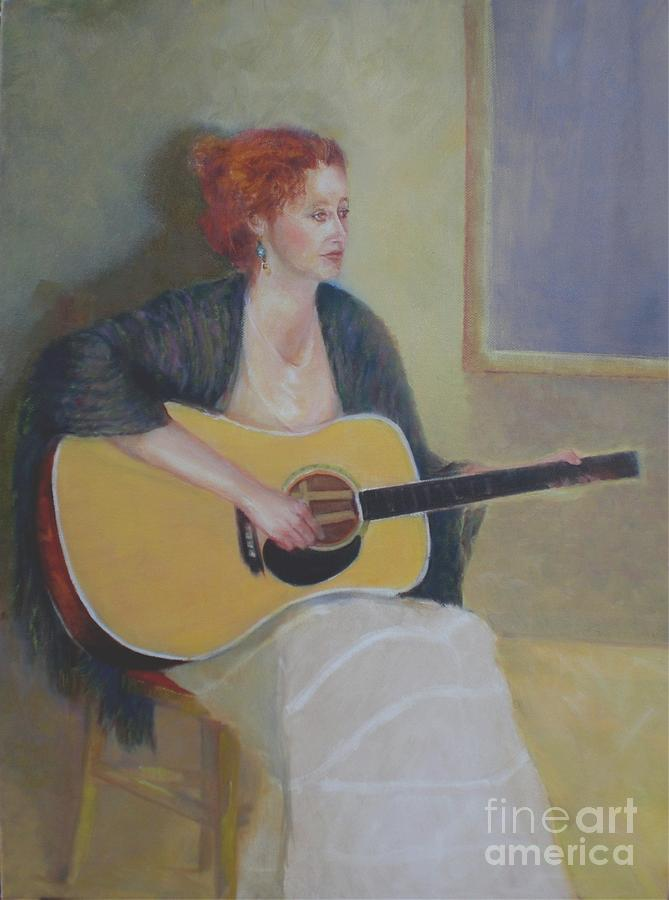 Female Figure Painting - The Irish Singer    Copyrighted by Kathleen Hoekstra