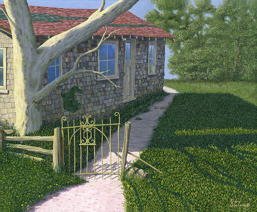 Old Farm Painting - The Iron Gate by Gary Giacomelli