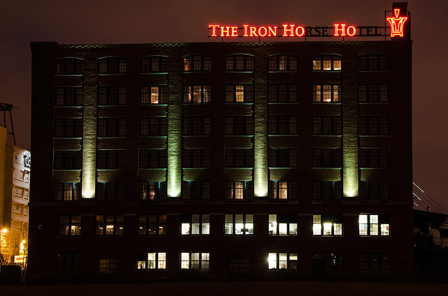 The Iron Horse Hotel Photograph - The Iron Horse Hotel by Susan McMenamin