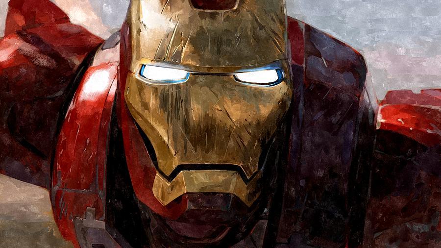 The Iron Man Painting by Florian Rodarte