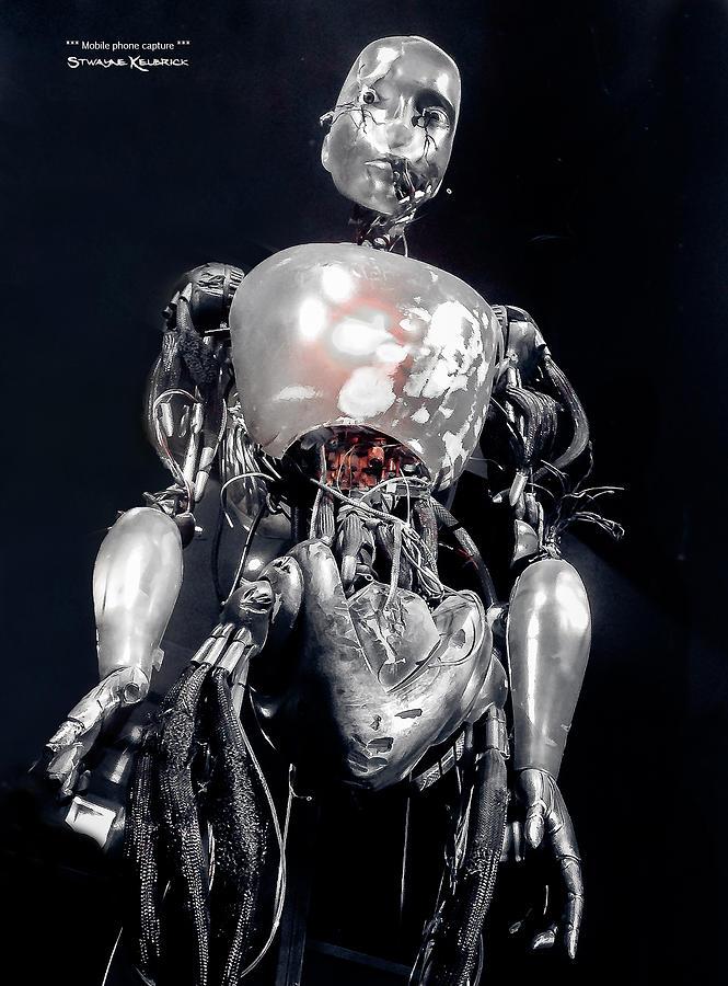 Black And White Photograph - The iron robot by Stwayne Keubrick