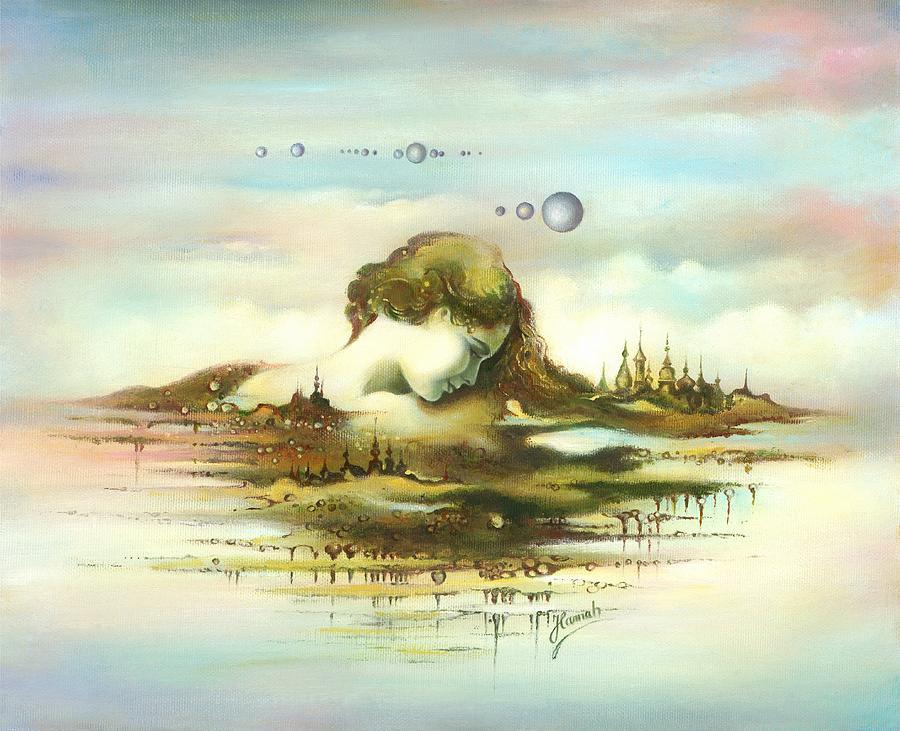 Sky Painting - The Island by Anna Ewa Miarczynska