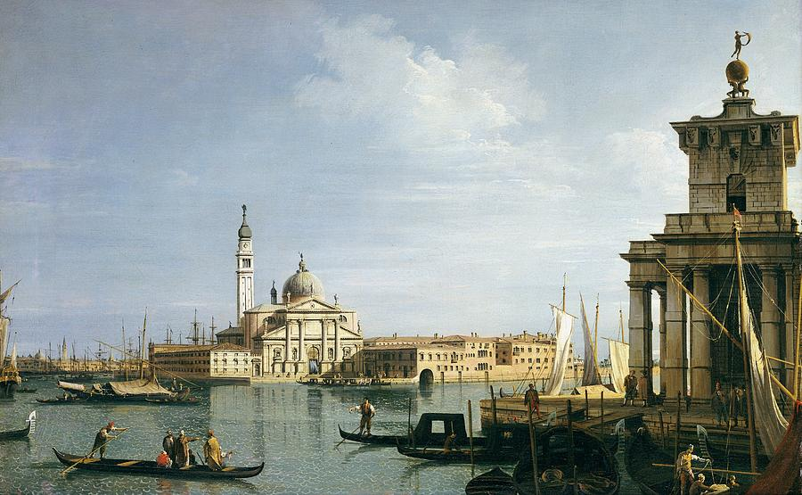 Venice Painting - The Island Of San Giorgio Maggiore by Canaletto