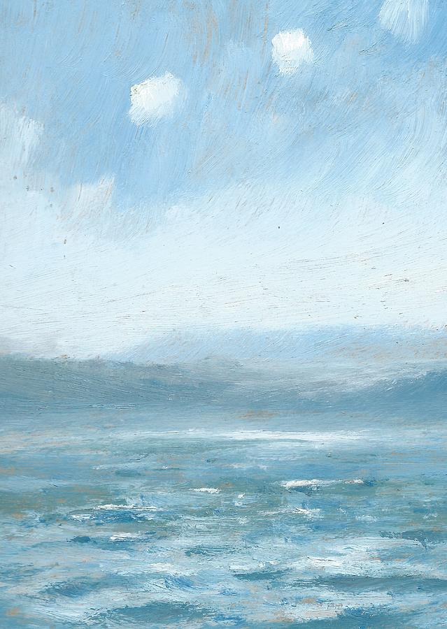 Seascapes Painting - The Isle Of Wight From Portsmouth Part Eight by Alan Daysh