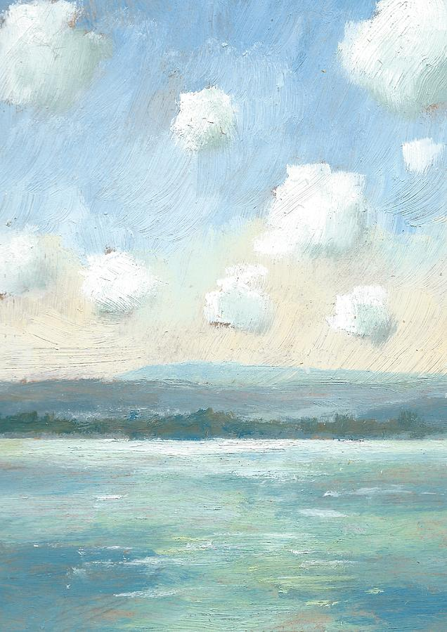 Oil Sketches Painting - The Isle Of Wight From Portsmouth Part Nine by Alan Daysh