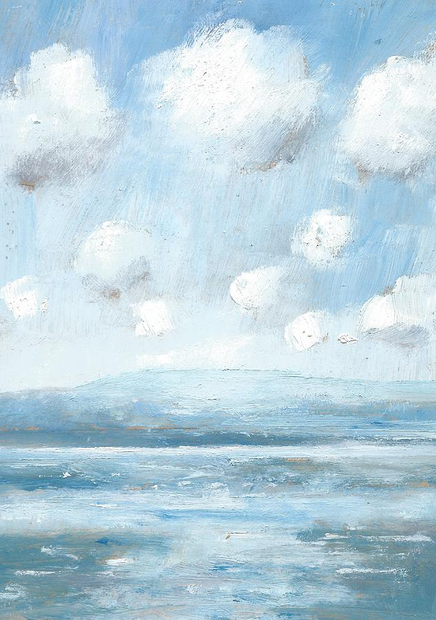 Cloudscape Painting - The Isle Of Wight From Portsmouth Part Seven by Alan Daysh