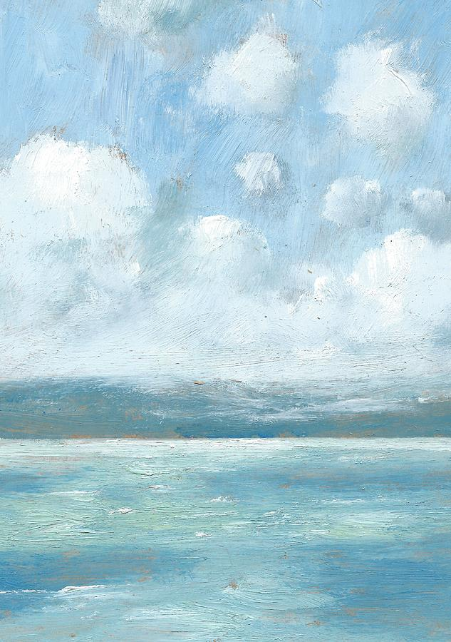 Seascapes Painting - The Isle Of Wight From Portsmouth Part Six by Alan Daysh
