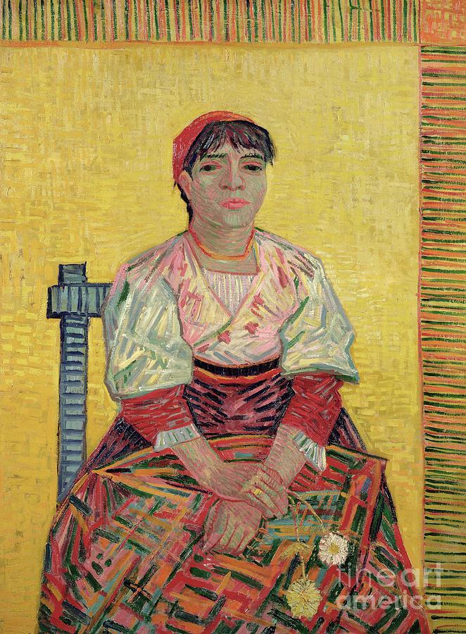 Post Impressionist Painting - The Italian  Agostina Segatori by Vincent Van Gogh