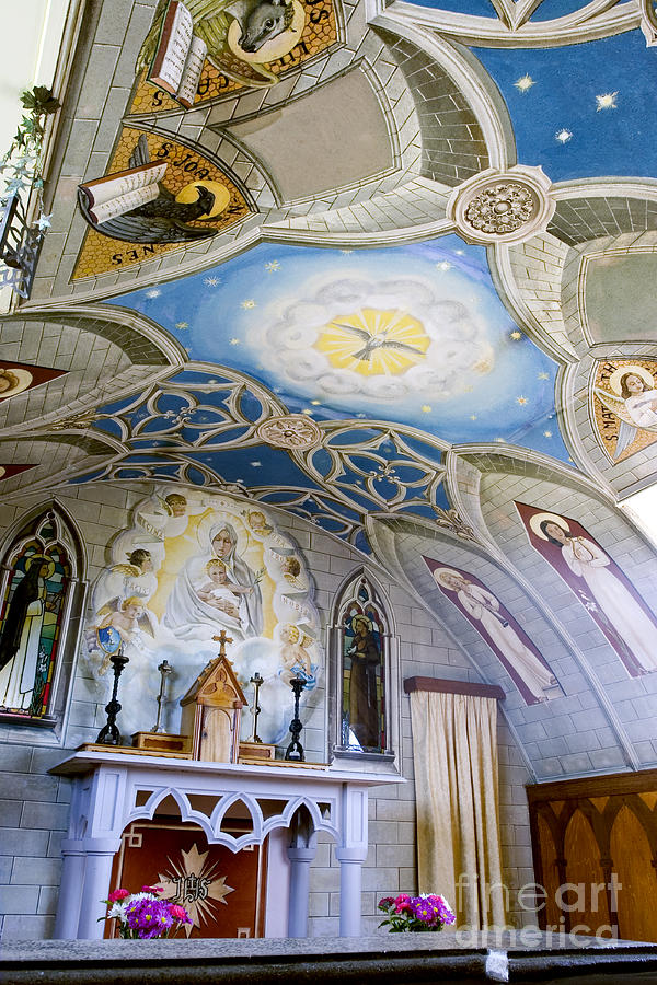 Orkney Photograph - The Italian Chapel Mural Orkney by Tim Gainey