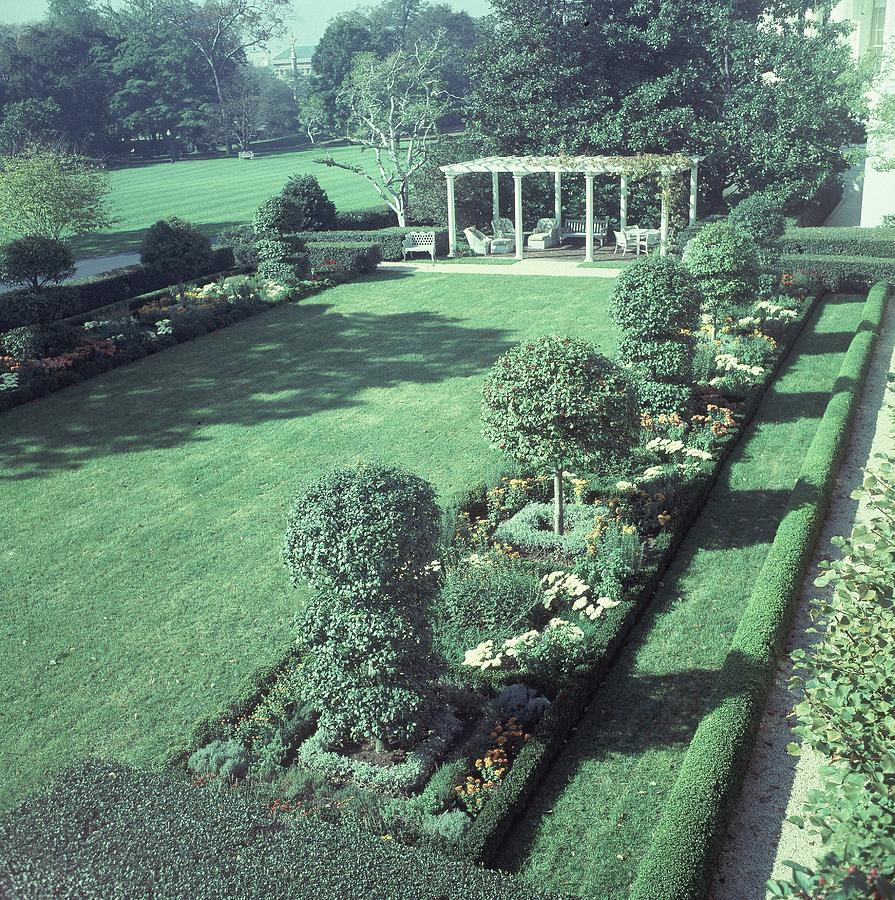 The Jacqueline Kennedy Garden At The White House by Horst P. Horst
