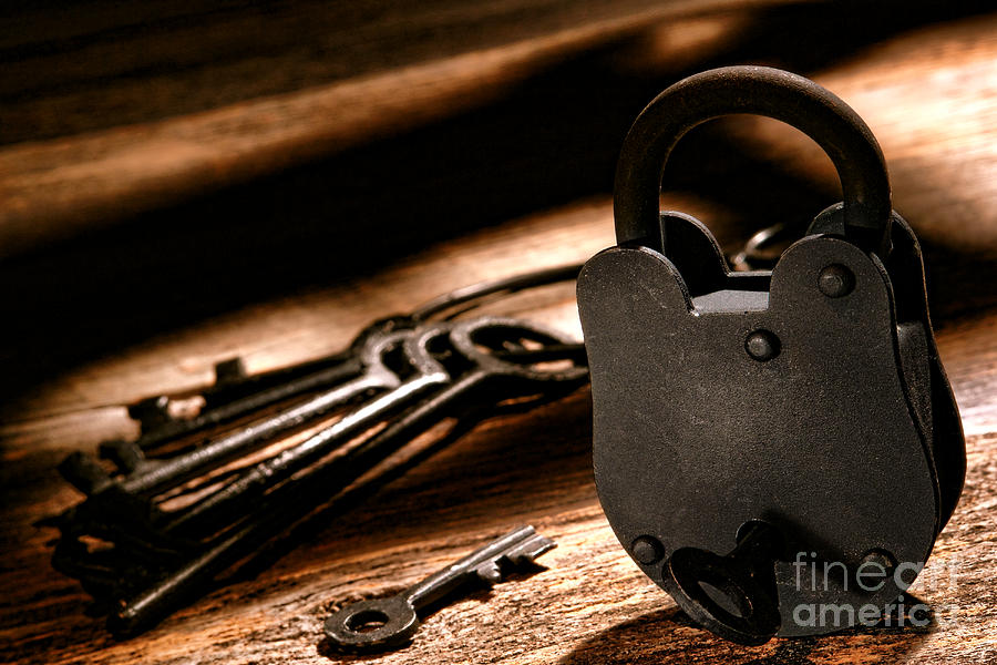 Lock Photograph - The Jailer Lock by Olivier Le Queinec