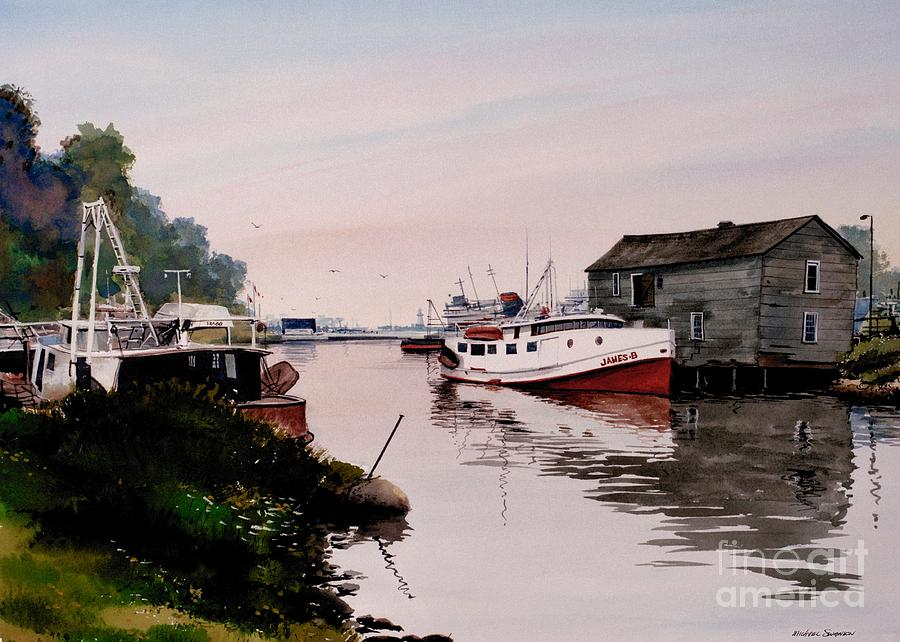 Fishing Boat Painting - The James B by Michael Swanson