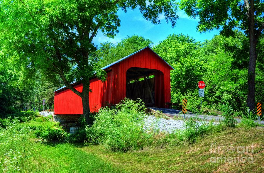 Indiana Covered Bridges Photograph - The James Covered Bridge by Mel Steinhauer