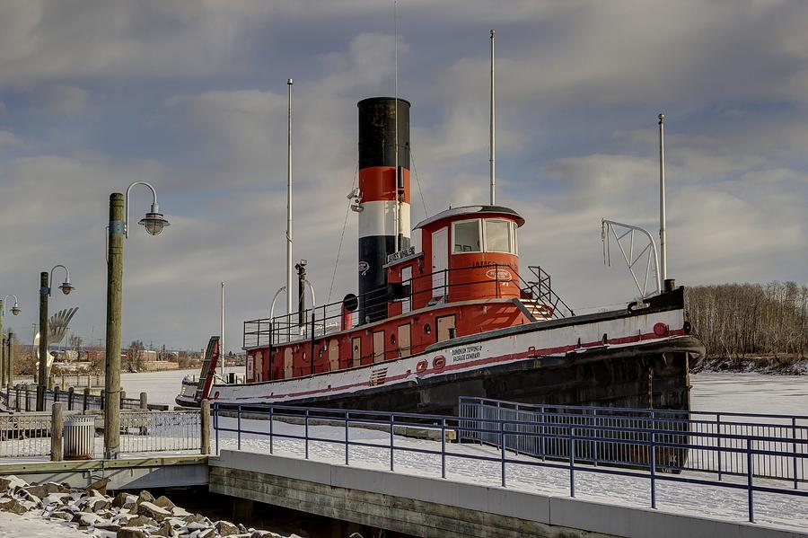 Tug Boat Photograph - The James Whalen by Linda Ryma
