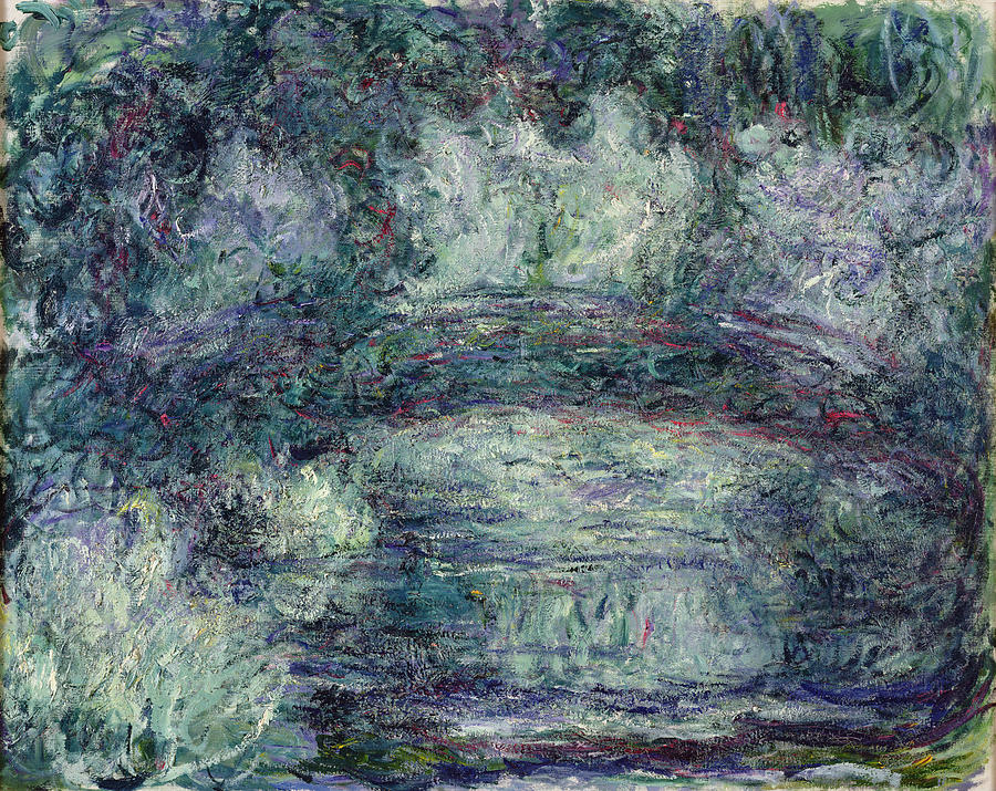 Green Photograph - The Japanese Bridge, 1918-19 Oil On Canvas See Detail 382336 by Claude Monet