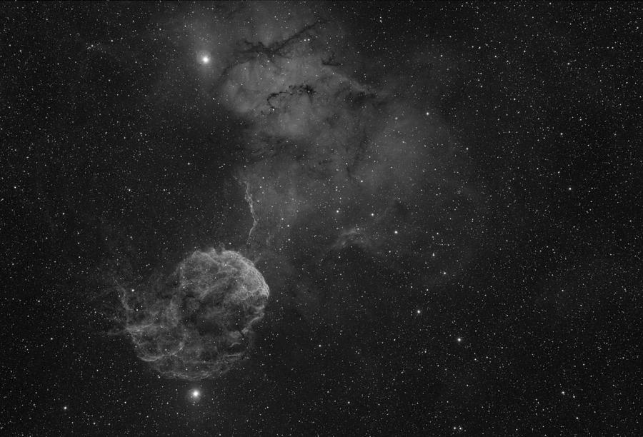 Astronomy Photograph - The Jellyfish Nebula by Brian Peterson