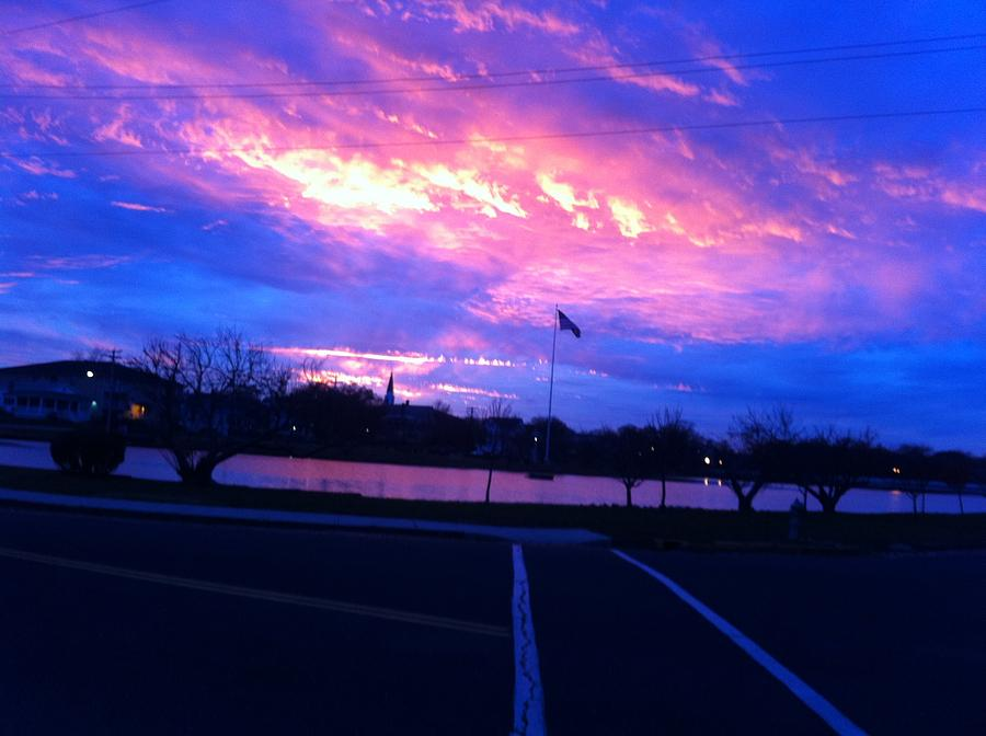 New Jersey Photograph - The Jersey Shore- Bradley Beach Sunset by Martin Fried MD