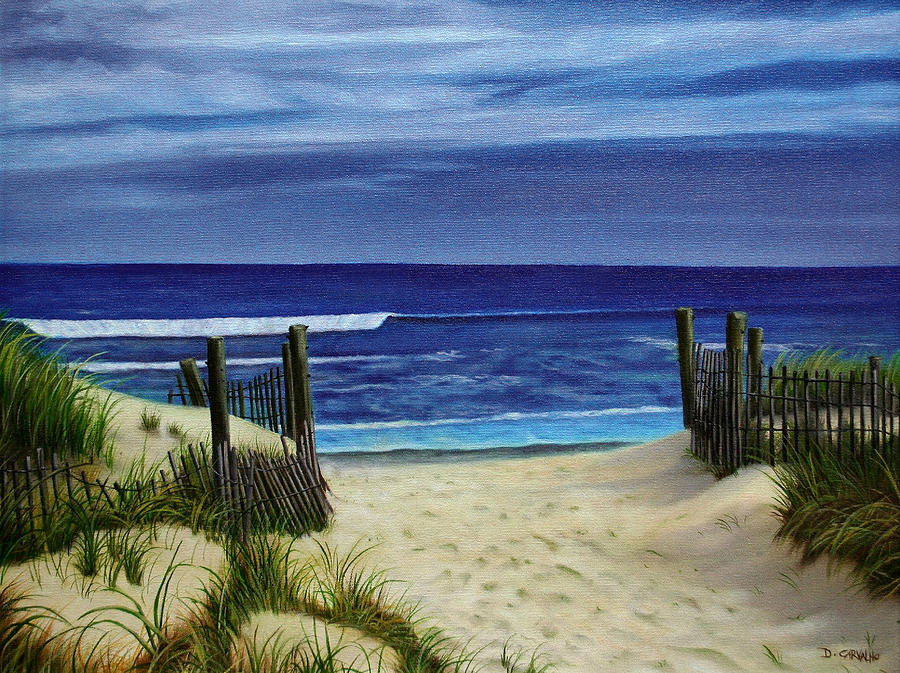 Beach Painting - The Jersey Shore by Daniel Carvalho