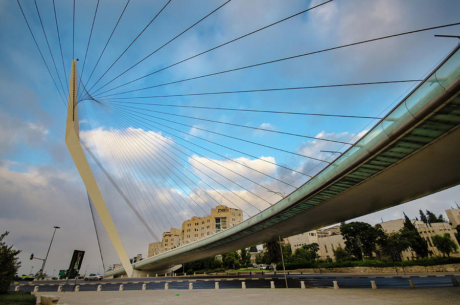 The Jerusalem Chords Bridge Photograph by Ilan Shacham