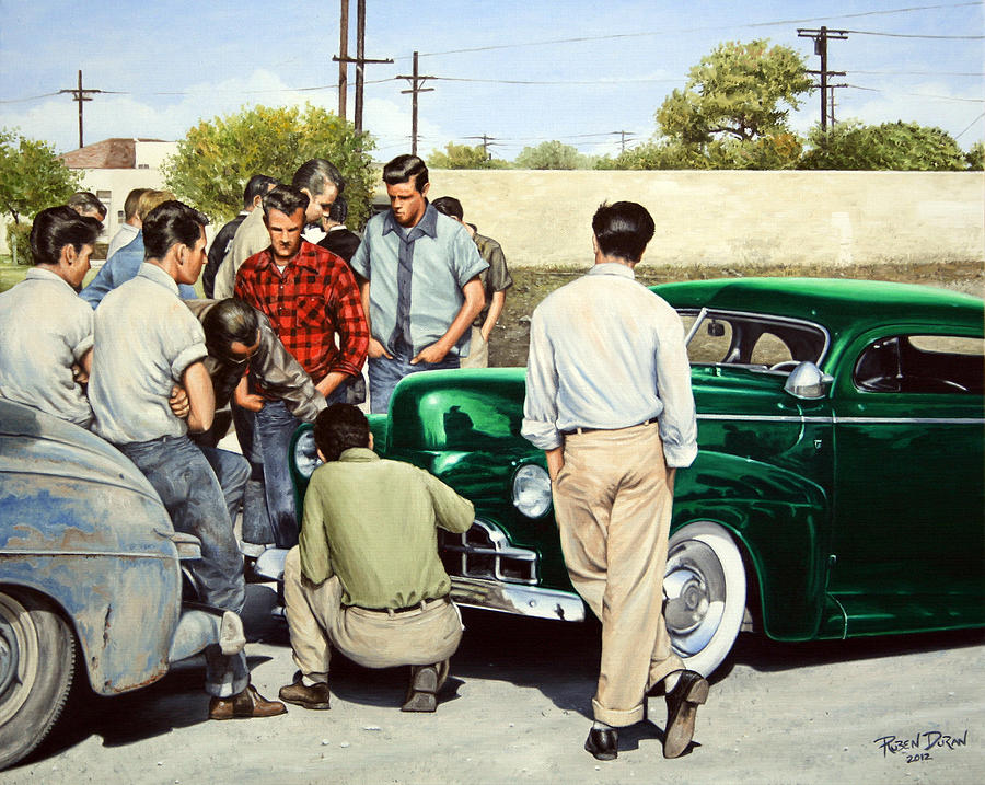 Custom Painting - The Jesse Lopez 41 Ford by Ruben Duran