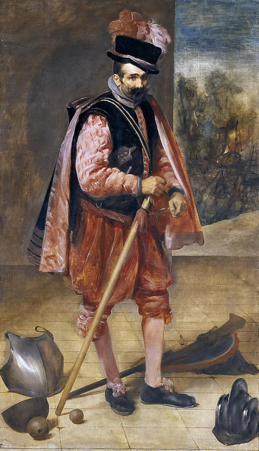Diego Velazquez Painting - The Jester Named Don John Of Austria by Diego Velazquez