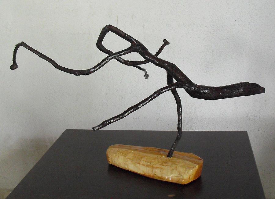 Jesus Christ Lizard Sculpture - The Jesus Christ Lizard by Vele Bezzo