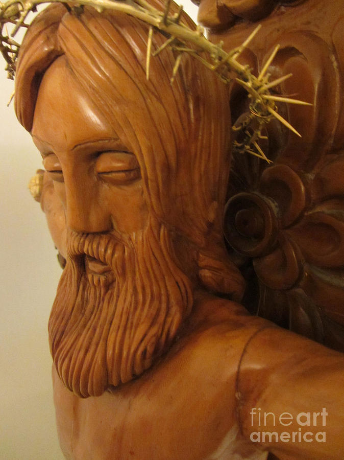 The Jesus Christ Sculpture Wood Work Wood Carving Poplar Wood Great For Church 3 Sculpture by Persian Art