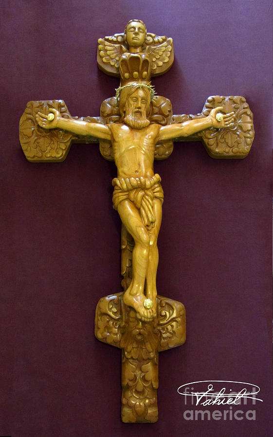 Jesus Christ Relief Sculptures Sculpture - The Jesus Christ Sculpture Wood Work Wood Carving Poplar Wood Great For Church by Persian Art