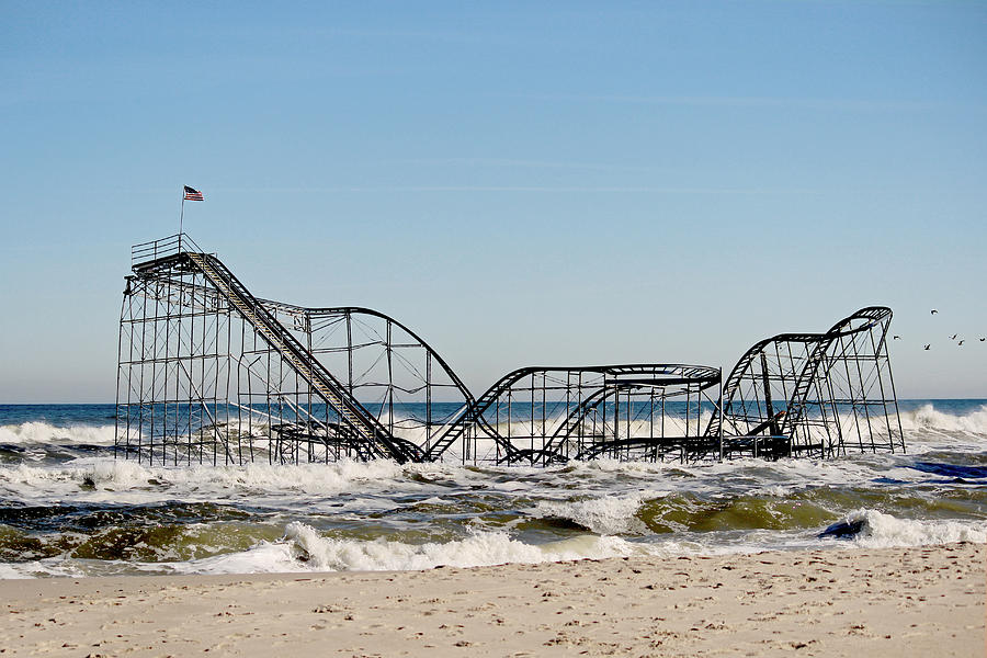 Rollercoaster Photograph - The Jetstar Remembered- 2012 by  Tina McGinley