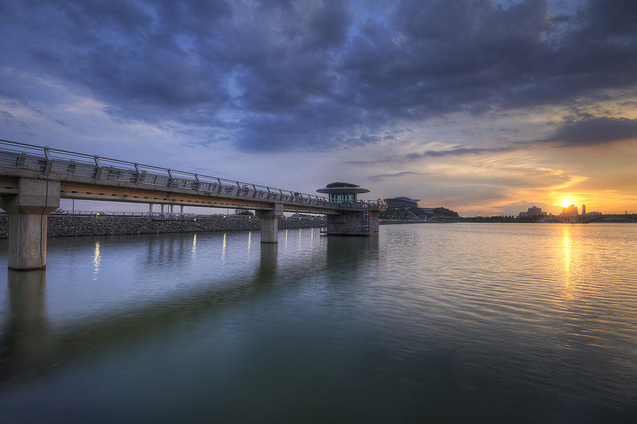 The Jetty At The Dam Photograph by Khasif Photography