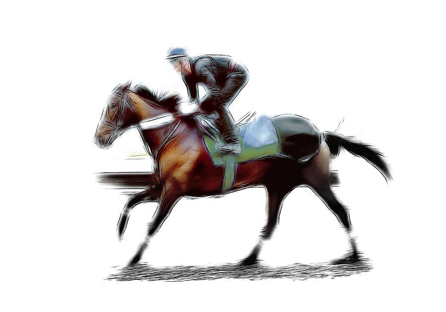 The Jockey Painting by Steve K