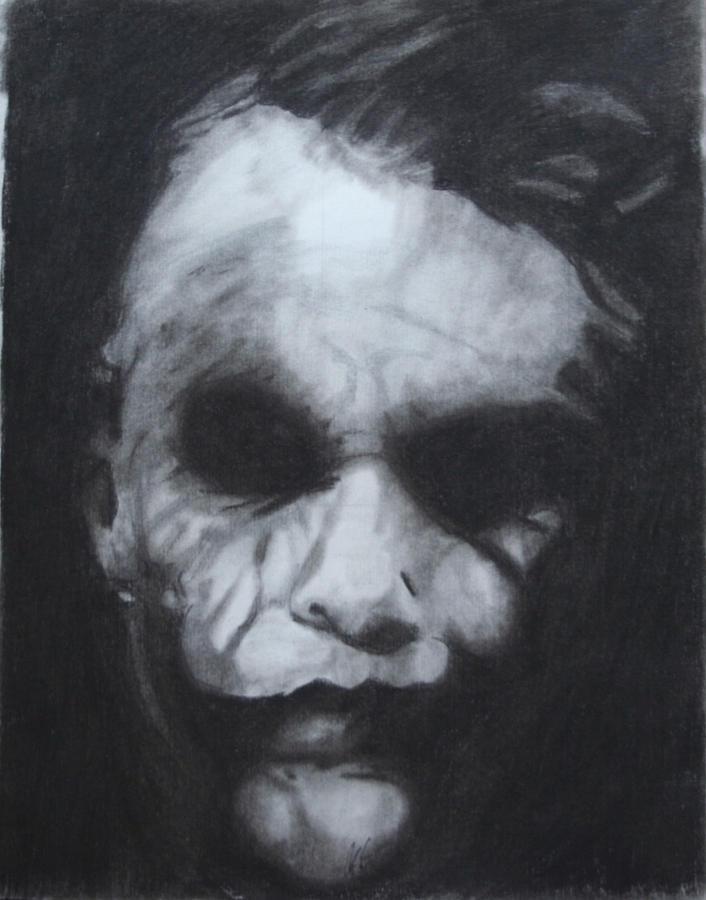 Dark Drawing - The Joker by Aaron Balderas
