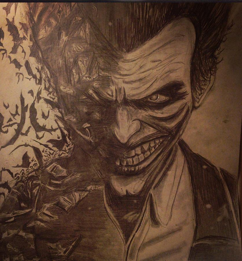 The Joker Batman Arkham Origins Drawing by Julie Leone