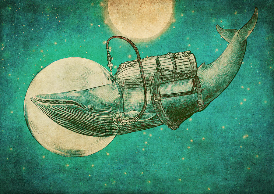 Whale Drawing - The Journey by Eric Fan