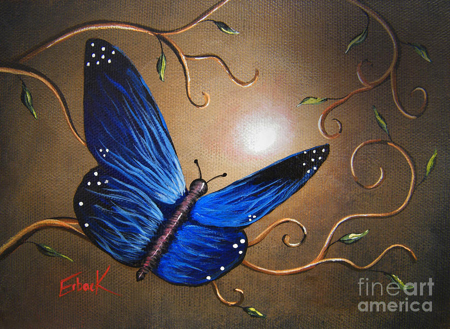 Butterflies Painting - The Journey Home By Shawna Erback by Shawna Erback