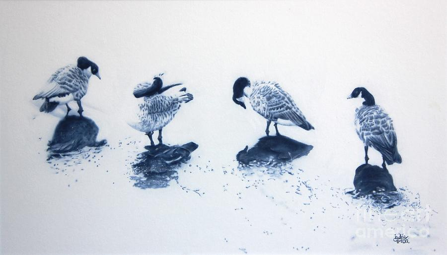 Bird Painting - The Journey by Jackie Mestrom