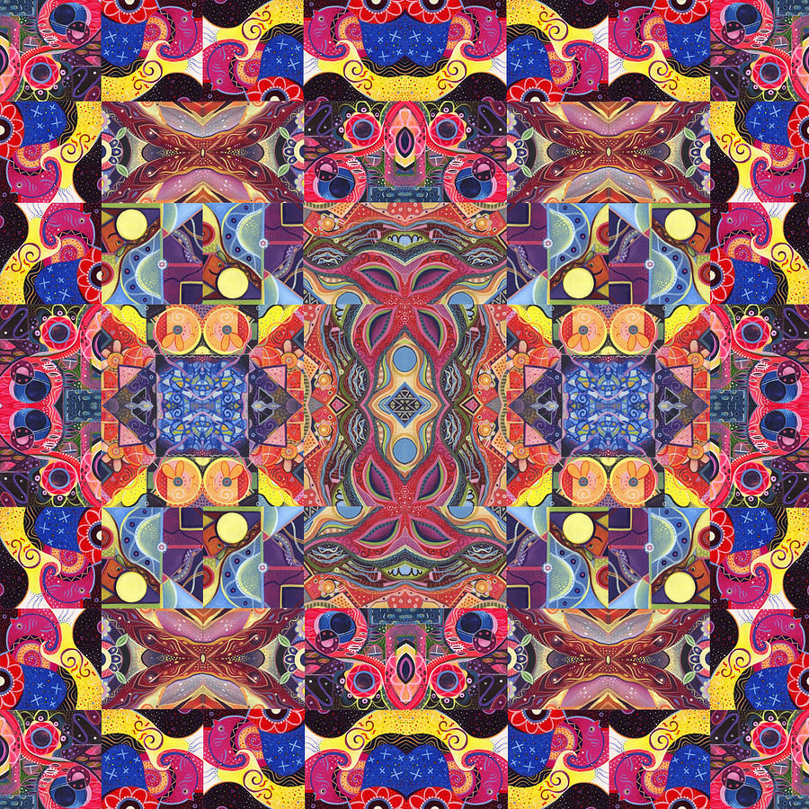 Abstract Painting - The Joy Of Design Mandala Series Puzzle 3 Arrangement 1 by Helena Tiainen