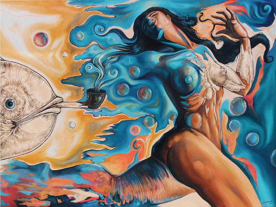 Surrealism Painting - On the Edge of Dreams by Darwin Leon