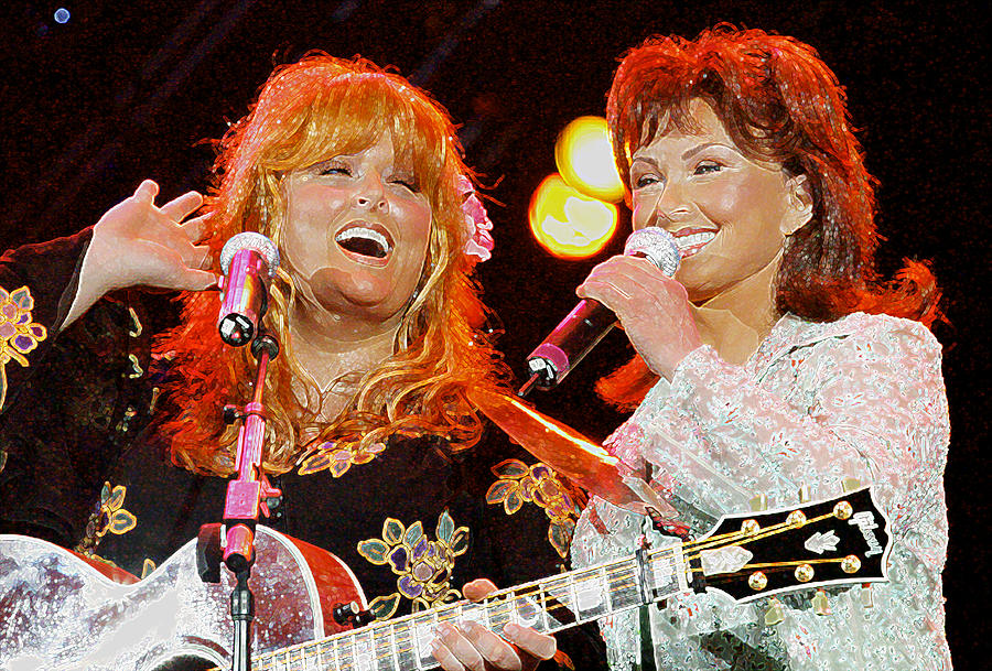 Canvas Country Singers The Judds Art Print Poster