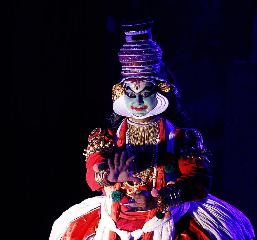 Dance Photograph - The Kathakali Dance by Money Sharma
